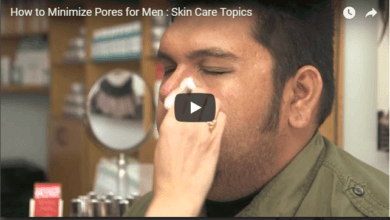 How to minimise pores for men